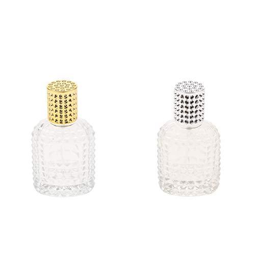 Prettyia 2pcs Glass Empty Bottle Spray Bottle Travel Size Perfume Container 50ml