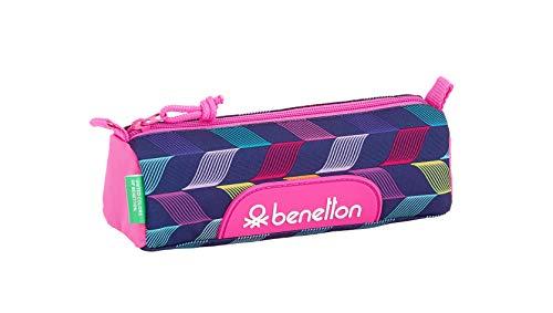 """Benetton """"Ondas"""" Oficial Estuche Escolar 210x70x80mm"""