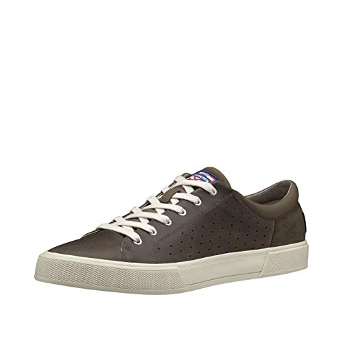 Helly Hansen Copenhagen Leather, Pier & Lifestyle Uomo, Marrone (Fossil/Aluminium/Moonb), 46.5 EU