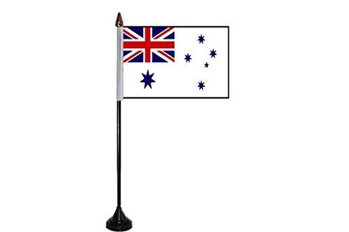 GIZZY® Australie Blanc/Bleu Marine Ensign 15,2 x 10,2 cm Lot de 12 bâtonnets de Drapeaux de table et bases
