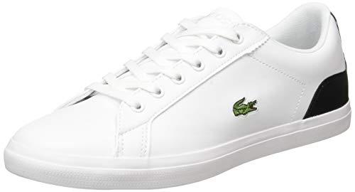 Lacoste Lerond 0120 1 CUJ Sneaker, Wht Blk, 39 EU