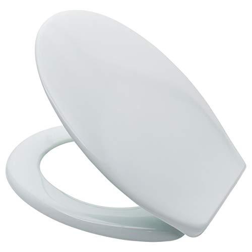 LUVETT® WC-SITZ C200 oval mit EasyFix® Steckscharnier OHNE ABSENKAUTOMATIK, bequeme & stabile Befestigung von oben, hygienisch & beständig Duroplast Toilettendeckel, Farbe:Ägäis
