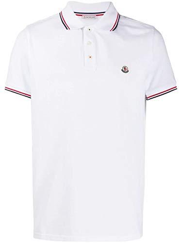 Moncler Luxury Fashion Herren 8A7030084556001 Weiss Poloshirt |