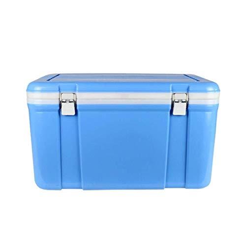 Wyyggnb Cool Box, Caja térmica pasiva de 33 l, Aislante, refrigerador y Calentador, Desmontable, Ideal para el hogar, Dormitorio, Oficina, Camping, Coche, Azul