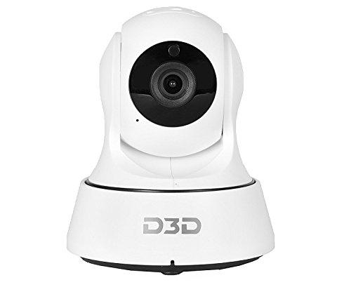 D3D Wireless HD IP Wifi CCTV [reloj en línea DEMO en este momento] Cámara de seguridad interior (compatible con tarjeta SD de hasta 128 GB) (color blanco) Modelo: D6022W