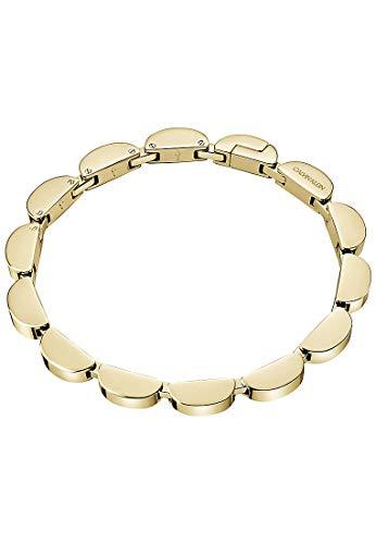 Calvin Klein Wavy 32011464 - Pulsera de acero inoxidable para mujer, talla única, color dorado