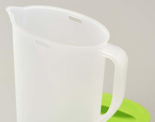 『パール金属 日本製 お茶 麦茶 ポット 2.0L グリーン クールポット デリシャすまいる H-5796』の3枚目の画像