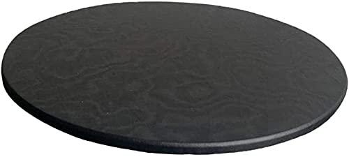 Yikko rutschfeste Runde Tischdecke - 120 cm Waschbare Stretch-Tischdecke wasserdichte Polyester-Tischdecke für Zuhause, Partys, Feiertagsessen, Restaurant (schwarz, 120 cm)