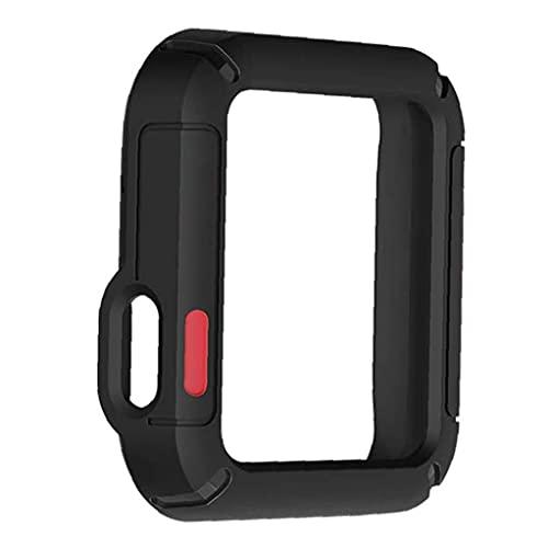 Reloj cubierta que aisla caer antideslizante y resistente a los golpes Compatible con reloj / Mi reloj Lite Anti-cero TPU reloj protector de la pantalla de parachoques reloj Accesorios Negro Rojo