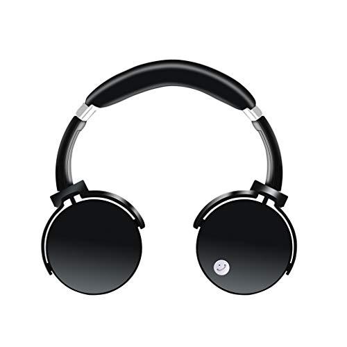WYH Música La Tarjeta de subwoofer inalámbrico para audífonos Bluetooth es Compatible con los audífonos de música Deportiva iOS Android Headset Resistente al Sudor (Color : Black)