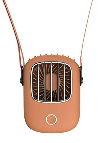 PEFINI Ventilador portátil para cuello de 3 velocidades, ultra silencioso, USB recargable, con batería de 1800 mAh, manos libres, 180°, ajustable, para viajes, color naranja