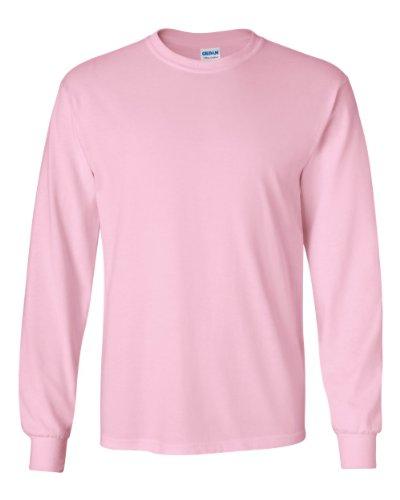 Gildan Men's Ultra Cotton Long-Sleeve T-Shirt light Pink, Medium