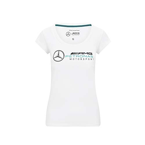 Mercedes-AMG Petronas Damen Formel 1 Logo T-Shirt, Weiß, S