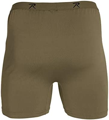 Rothco Men/'s Performance Underwear Army Brown Moisture Wicking Boxer Briefs