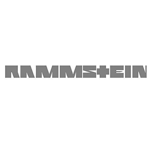 Rammstein Aufkleber Sticker Silber Schriftzug (freistehend) 100mm, Offizielles Band Merchandise