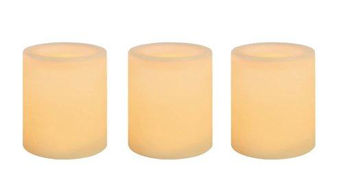 NORTHERN INTERNATIONAL INC Flameless Candle, Votive, Cream Wax, 1.75-In., 3-Pk.
