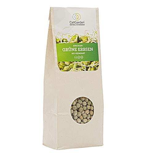 Cell Garden® grüne Erbsen Samen Bio | 500 g – grüne Erbsen Sprossen Samen für Sprossen und Microgreens mit hoher Keimfähigkeit - 100{cec937d7fb74160ed896fb394aebdc76874c3baa2cf628899d5a27623067dce0} Laborgeprüfte BIO-Qualität – mit Keimanleitung