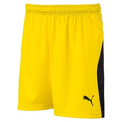Puma Liga, Pantaloncini da Calcio Unisex Bambini, Giallo (Cyber Yellow Black), 140
