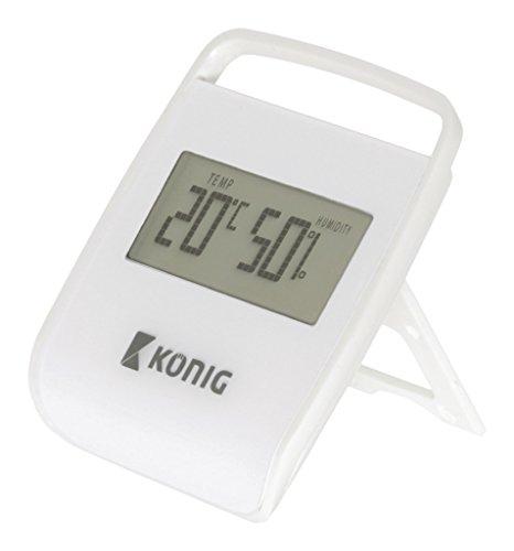 König thermometer/hygrometer voor binnen, wit