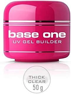 Silcare – Gel UV Base One monofásico Thick Clear para reconstrucción de uñas 50 g