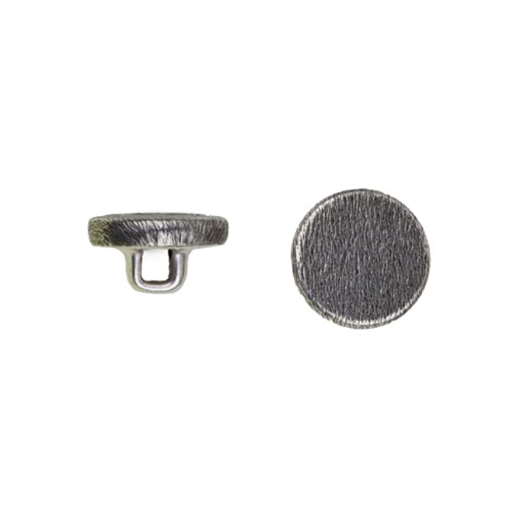 C&C Metal Products 5051 Flat Florentine Metal Button, Size 20 Ligne, Antique Nickel, 144-Pack