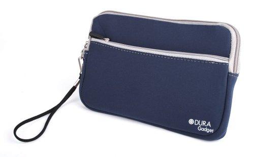 DURAGADGET Funda De Neopreno Azul para La Tablet Unusual 7W First / 7i - con Bolsillo Exterior + Correa De Mano