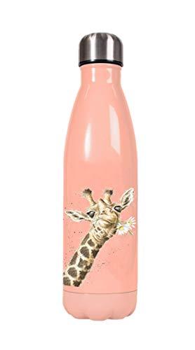 Wrendale Designs - Borraccia con giraffa 'Flowers'