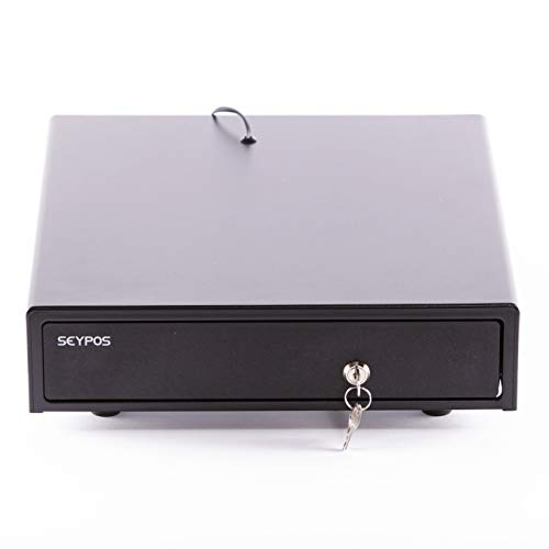 Seypos Cajón portamonedas automatico - electrico Cash Mini Negro (33 x 36 cm)