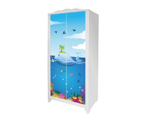 Unterwasserwelt Möbelsticker/Aufkleber für den Kinderschrank HENSVIK von IKEA - IM171 - Möbel Nicht Inklusive | STIKKIPIX