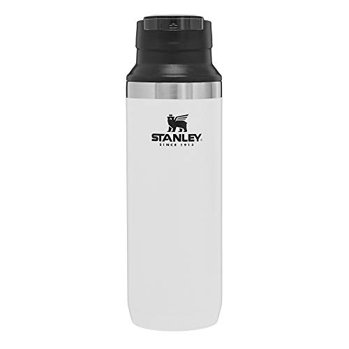 Stanley Mountain Vacuum Switchback Mug Stainless Steel Water Bottle, Insulated Travel Coffee Mug with Double Walls, Grit Guard, and One-Handed Opening, Metal Flask for Hot and Cold Drinks