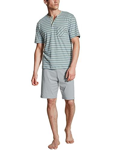 CALIDA Herren Relax Streamline kurz 2 Pyjamaset, Quarry Grey, 52-54