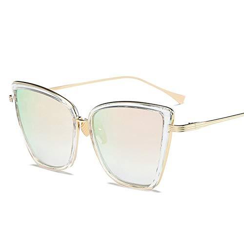 WDDYYBF zonnebril, voor dames, klassiek, kattenoog, merk, designer-zonnebril, retrobril, spiegelend, mannelijk