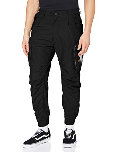 G-STAR RAW Mens Flight Cargo Cuffed Relaxed Tapered Sweatpants, dk Black C183-6484, 32W / 34L