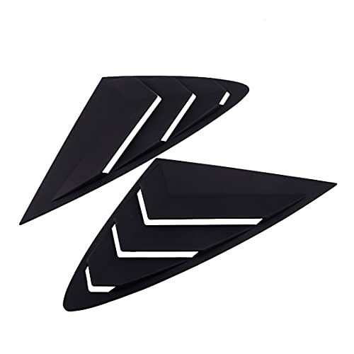 VASYSHOP 1PAIR REAR SIDE WINDOW VENT SCOOP LOUVER STYLING CAR MATT BLACK ABS FIT FOR COMPATIBLE HYUNDAI SONATA DN8 2021