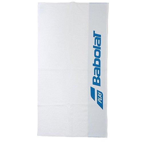 Babolat Tennis Handtuch weiß mit blauem Logo