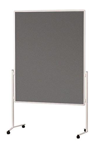 magnetoplan Moderationstafel Filz, grau, 1200 x 1500 mm