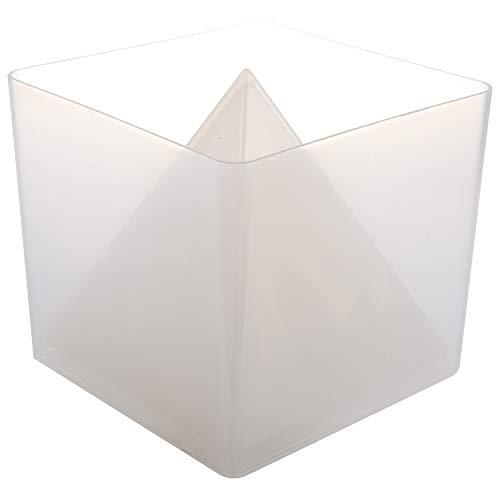 Geroosaty Super pirámide de silicona molde resina artesanal ornamental forma cristal forma y marco de plástico joyas artesanía resina
