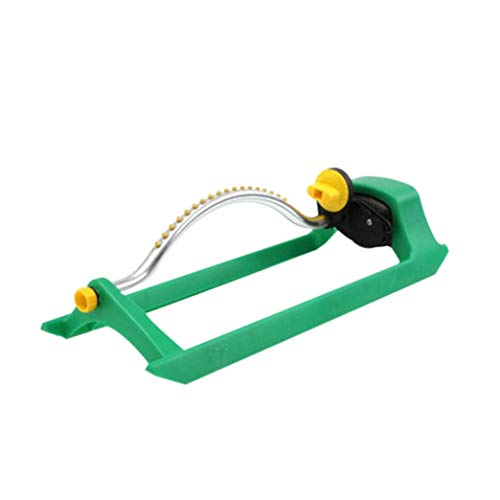 Iuhan Lawn Sprinkler- Water Garden Sprinkler- Oscillating Lawn Sprinkler Watering Garden Pipe Hose Water Flow With Connector (Green)
