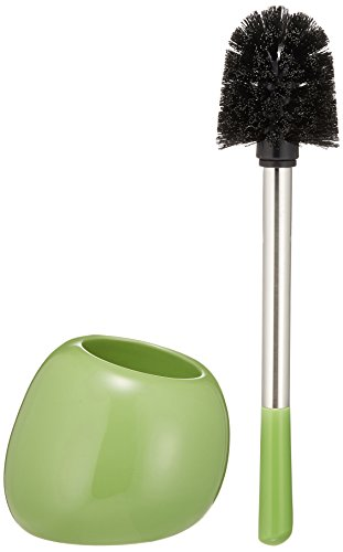 WENKO WC-Garnitur Polaris Green Keramik - WC-Bürstenhalter, Keramik, 15 x 34.5 x 14.5 cm, Grün