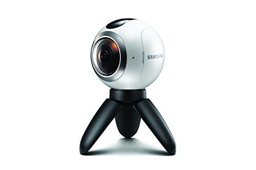 Samsung Gear 360 Spherical VR Camera (SM-C200NZWAXAR) White - w/ Accessories - Renewed