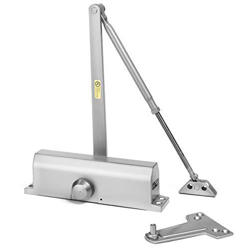Dynasty Hardware 4000-ALUM Commercial Grade Door Closer, Size 4 Spring, Sprayed Aluminum