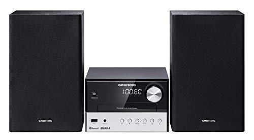 Grundig M 1000 BT Home audio micro system 30W Black,Silver - home audio sets (Home audio micro system, Black, Silver, 1diss, 30W, 180W, FM)