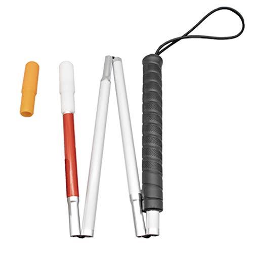 100cm Aluminio Bastón Blanco para Ciegos y Baja Vision Plegable 4 Secciones con 2 Punta 🔥