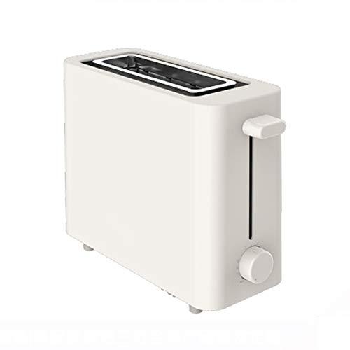 Mini tostadora blanca Tostadora de pan de extensión completamente automática para el hogar 6 engranajes ajustados de manera uniforme Horneado PP Shell 500W Máquina de desayuno