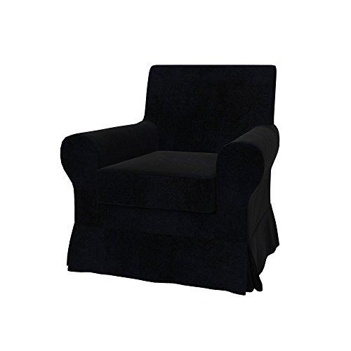 Soferia - Bezug fur IKEA EKTORP JENNYLUND Sessel, Eco Leather Black