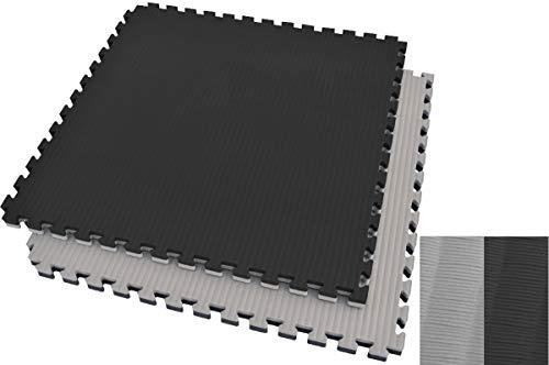 Ninestars Tatami Puzzle 2,5 cm, color negro y gris, diseño de paja de arroz
