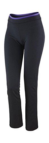 Spiro Pantalon de Fitness pour Femme Large Noir/Lavande