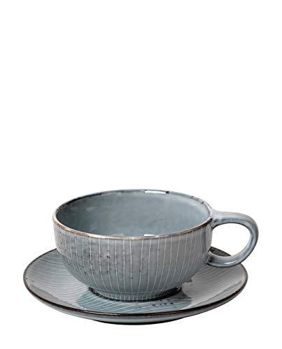 Broste Copenhagen Nordic Sea Teetasse / Kaffeetasse mit Unterteller - NEW IN -
