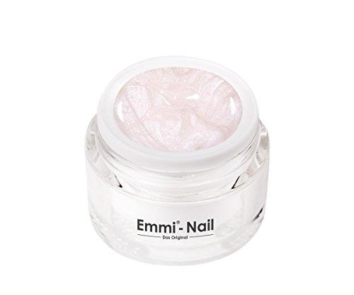 Emmi-Nail Farbgel Pearl: UV-Gel für glänzendes Finish, hohe Deckkraft, weißer Glitzer, mittelviskos, kein Verlaufen in die Nagelränder, 5 ml