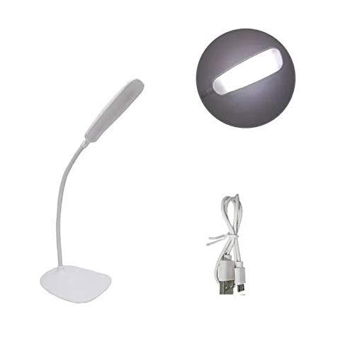 LUMINARIA DE MESA FLEXIVEL RECARREGAVEL USB COM SENSOR TOUCH 18 LEDS